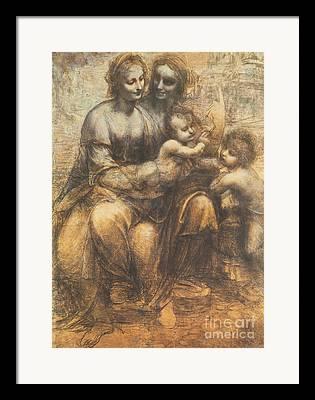 Saint Family Framed Prints
