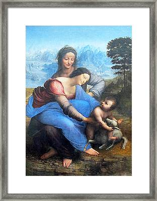 The Virgin And Child With St. Anne Framed Print