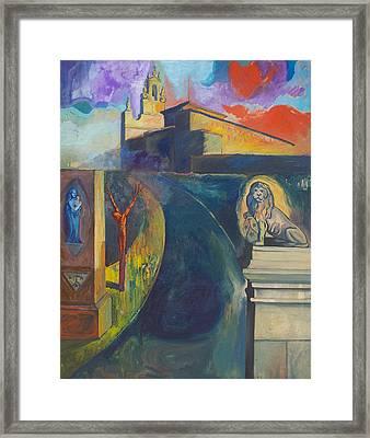 The Virgin And The Lion Framed Print by Fernando Alvarez
