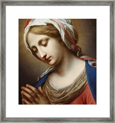 The Virgin Annunciate Framed Print by Carlo Dolci