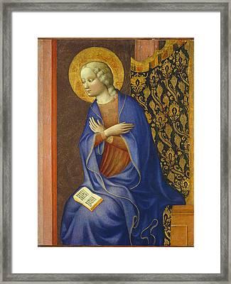 The Virgin Annunciate Framed Print by Tommaso Masolino da Panicale
