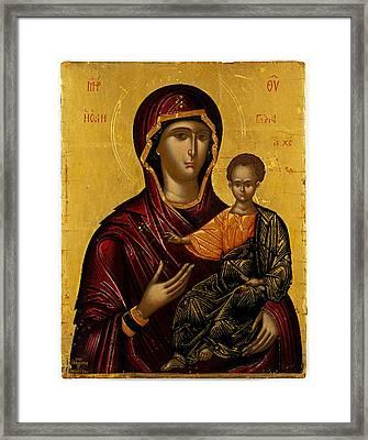 The Virgin Hodegetria Framed Print by Emmanuel Lambardos