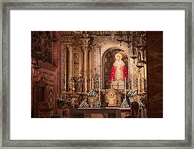 The Virgin Of Hope Framed Print by Joan Carroll