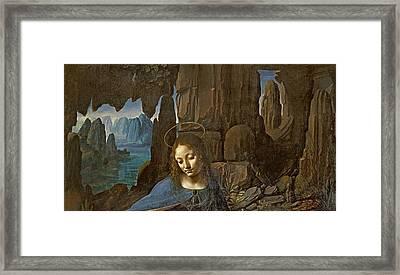 The Virgin Of The Rocks Framed Print