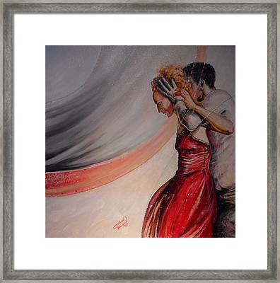 The Virgin Queen With Robert Dudley Framed Print