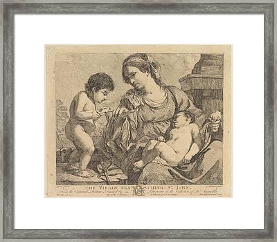 The Virgin Teaching St. John Framed Print by John Hamilton Mortimer