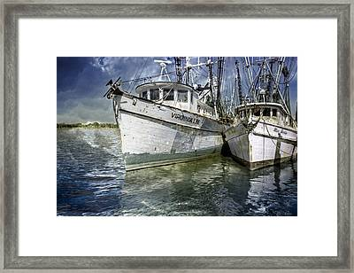 The Virginia Lee And The Miss Harley Framed Print by Debra and Dave Vanderlaan