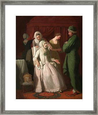 The Virtuous Comforted By Sympathy, Edward Penny Framed Print by Litz Collection