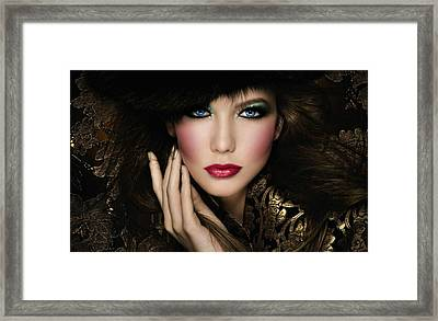 Framed Print featuring the digital art The Virtuous Woman by Karen Showell