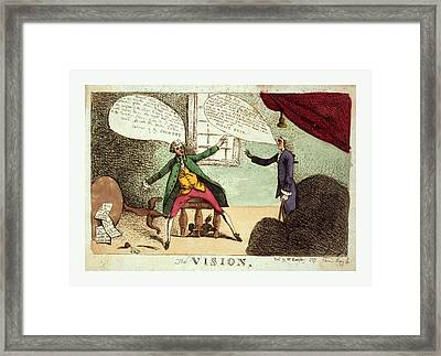 The Vision, Engraving 1785, A Young Man, Possibly William Framed Print