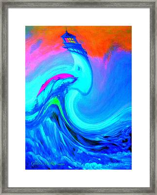 The Vision Of Blue Framed Print by Glenna McRae