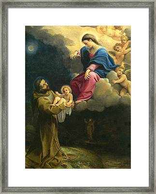 The Vision Of Saint Francis  Framed Print by Carracci Ludovico