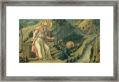 The Vision Of St. Augustine, Late 1450s Panel Framed Print by Filippino Lippi