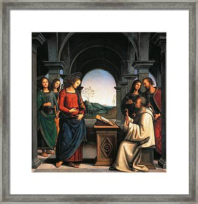The Vision Of St Bernard Framed Print