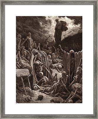 The Vision Of The Valley Of Dry Bones Framed Print by Litz Collection