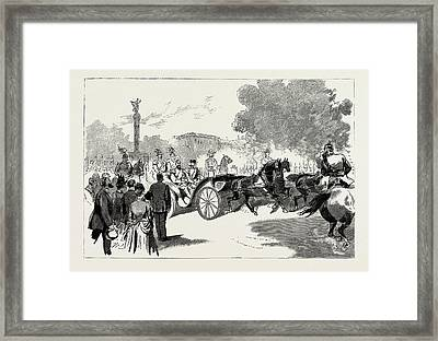 The Visit Of The Czar To The German Emperor At Berlin Framed Print