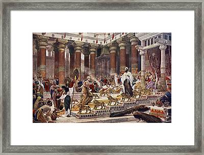 The Visit Of The Queen Of Sheba To King Framed Print