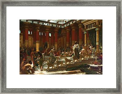 The Visit Of The Queen Of Sheba To King Solomon Framed Print by Edward John Poynter