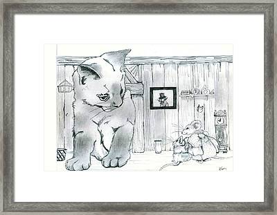 The Visitor Framed Print by Brad Simpson