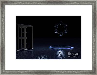 Framed Print featuring the digital art The Visitor by Jacqueline Lloyd