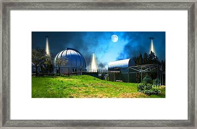 The Visitors At The Chabot Space And Science Center In The Hills Of Oakland California Dsc912 V1 Framed Print by Wingsdomain Art and Photography