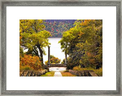 The Vista Steps In Autumn Framed Print by Jessica Jenney