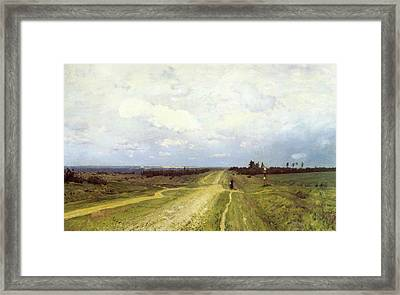 The Vladimirka Road Framed Print by Isaak Ilyich Levitan