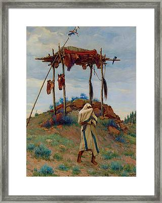 The Voice Of The Great Spirit Framed Print by Joesph Henry Sharp