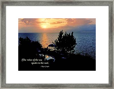 The Voice Of The Sea Framed Print by Mike Flynn