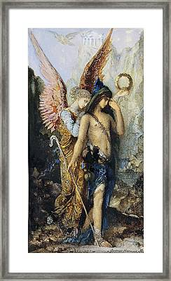 The Voices. Hesiod And The Muse Framed Print