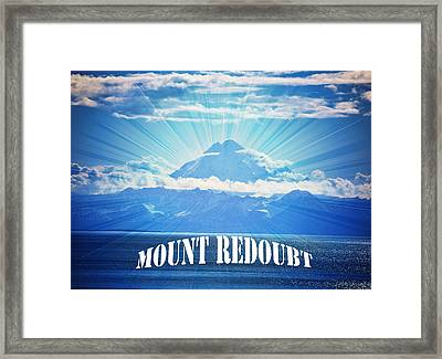 The Volcano Mt Redoubt Framed Print