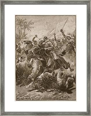 The Volunteer Cavalry Charged Framed Print