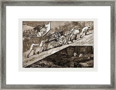 The Volunteer Review At Brighton The March Framed Print by Litz Collection
