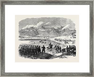 The Volunteer Review At Dover Assault On The South-east Framed Print by English School