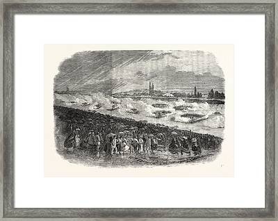 The Volunteer Sham Fight At Wimbledon On Easter Monday Framed Print