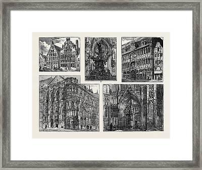 The Volunteer Visit To Belgium Framed Print by Belgian School
