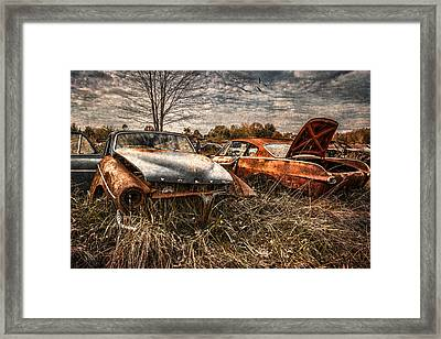 The Volvo Graveyard Framed Print by Dale Kincaid
