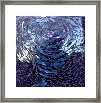 The Vortex Framed Print by Alison Edwards