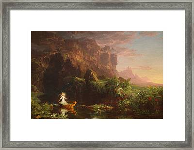 The Voyage Of Life Childhood Framed Print by Thomas Cole
