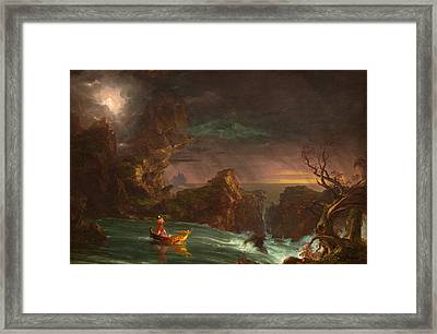 The Voyage Of Life Manhood Framed Print by Thomas Cole