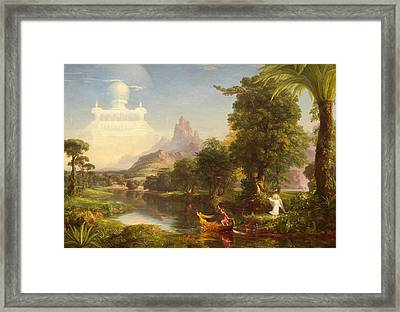 The Voyage Of Life Youth Framed Print by Thomas Cole