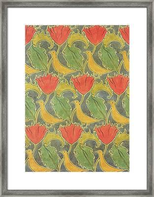 The Voysey Birds Framed Print by Voysey