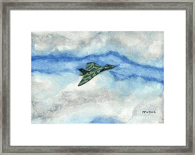Framed Print featuring the painting The Vulcan Bomber by John Williams