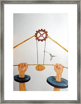 The Vulnerable Part Of Mechanisms Framed Print by Lazaro Hurtado