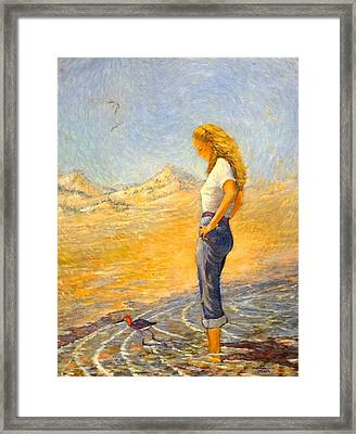 The Waders  Framed Print
