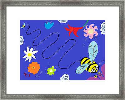 The Waggle Dance Framed Print by Anita Dale Livaditis