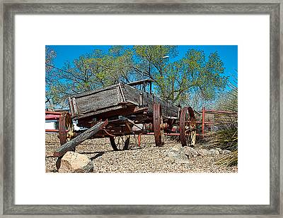 The Wagon Framed Print by Don Durante Jr
