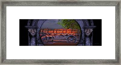 Framed Print featuring the photograph The Wagon by Gunter Nezhoda