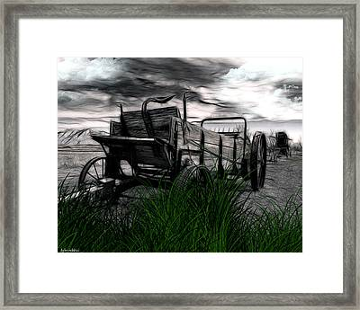 The Wagon Framed Print by Tyler Robbins