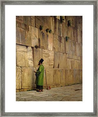 The Wailing Wall, 1880 Framed Print by Jean Leon Gerome